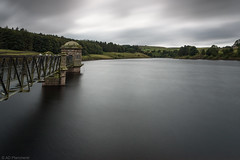 Reaching the reserves (Anthony P.26) Tags: architecture category england external landscape longexposure lowerlaithereservoir places travel westyorkshire yorkshire canon70d canon1585mm canon outdoor architecturephotography landscapephotography travelphotography scenery water cloudy greyclouds clouds sky reservoir fields trees english greatbritain uk unitedkingdom tree forest
