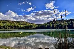 Reflections in the water (Peideluo) Tags: tree clouds nikon water landscape agua cielo paisaje reflection reflejo ruidera