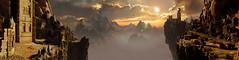 """The landscape of Cirith Ungol"" (Xenolith3D) Tags: shadowofwar middleearth mordor screenshot hd 4k pc nvidia nvidiaansel panorama virtualphotography cirithungol photomode game gamephotography"