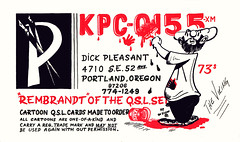 The Viking: Dick Pleasant - Portland, Oregon (73sand88s by Cardboard America) Tags: qsl cb cbradio vintage theviking artistcard oregon