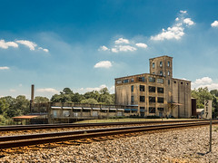 Abandoned Mill - Juliette, Georgia (Lee Edwin Coursey) Tags: mill usa georgia building decay tracks outdoor rural september summer abandoned southexplore southern travel south sonyrx10 sonyrx10m3 2018 ruralamerica railroad
