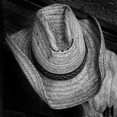 Straw Hat (arbyreed) Tags: arbyreed hat strawhat oldhat texture monochrome bw blackandwhite squareformat