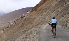 Cycling towards Karsha monastery (Image S Jigmet)