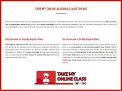 Pay Someone To Take My Online Algebra Class For Me (takemyonlineclasses) Tags: pay someone to take my online algebra class for me
