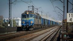 ET41-008-B (Rafał Jędrasiak) Tags: train warsaw 2018 gdanski bridge mostgdański track tory et41008b pkp cargo emount sony a6500 18105