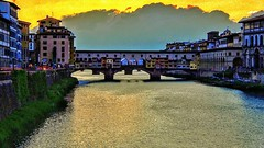 One more from the bridge (altamons) Tags: altamons italy italia holidays holiday florence firenze travel vacation trip history pontevecchio arno sunset
