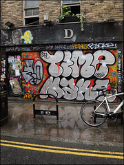 Roxs / Time / Make (Alex Ellison) Tags: roxs make time osv shoreditch eastlondon bricklane urban graffiti graff boobs shop store shutter