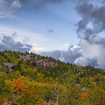 Lake Placid  New York ~ Ominous Clouds over The Mountains - Autumn Scene thumbnail