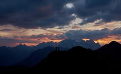 The Photographers (Bill Higham) Tags: marmolada italy sunset dusk dolomites photographers billhigham