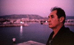 dusk portrait (z gee) Tags: film c41 cvs fuji leica m2 50mm zeiss sonnar room temperature digibase kit greece badscan epson