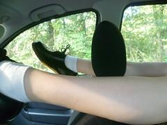 P1110231 (barelegadventureboy) Tags: legs barelegs docmartens lepplay danglinglegs smooth smoothlegs legsoncar socks whitesocks legslove legspose