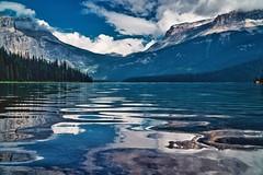 Lake Water Reflection, Emerald Lake (YL168) Tags: yohonationalpark reflections mountain emeraldlake waterreflections lake sonyemount a6500