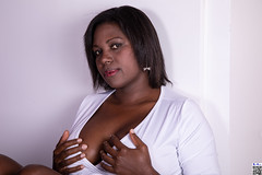 A bit of malice (tnekralc) Tags: bit malice model kirezi sexy sex head face hair eyes mouth lips neck cleavage boobs shoulders arms white dress black woman hands legs tits skin