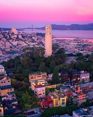 San Francisco Sunrise Colors (davidyuweb) Tags: san francisco sunrise colors sanfrancisco coit tower goldengatebridge luckysnapshot 三藩市