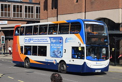 SY 15828 @ New Beetwell Street/coach station, Chesterfield (ianjpoole) Tags: stagecoach yorkshire scania n230ud alexander dennis enviro 400 yn12gyt 15828 working route 43 new beetwell street chesterfield sheffield centre