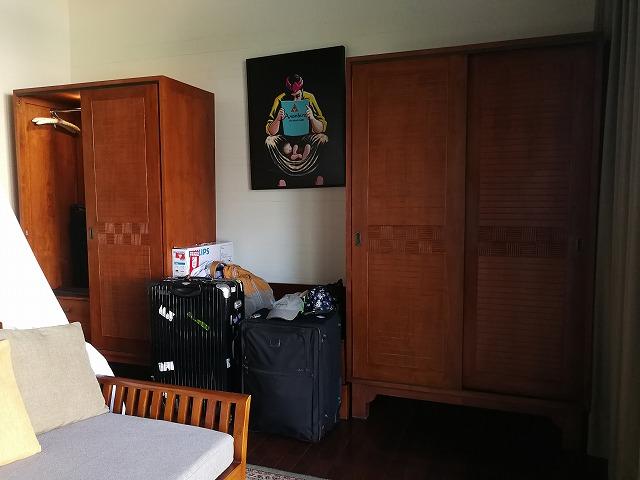 <p>1ベッドルームのお部屋、クローゼットが2つ</p>
