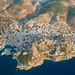 Aerial of Hydra island, Greece