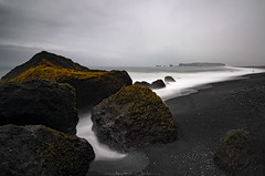 Black Sand Beach | Reynisfjara (_Amritash_) Tags: reynisfjara blackbeach blacksandbeach longexposure longexposurejunkie iceland icelandiclandscapes beachscape beach cloudy weather sea seascape