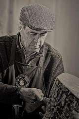 Another wood worker shot . (douglasjarvis995) Tags: working worker workshop wood art carve carver hat yorkshire show harlowcarr rhs pentax k1 dfa100mmf28wr 100mm