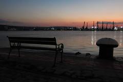 Port Varna (passenger terminal) (lyura183) Tags: bulgaria българия varna варна sea blacksea черноморе port cranes sunset