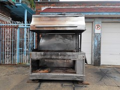Grillin' (navejo) Tags: montreal quebec canada bbq grill outdoor noparking fence blue