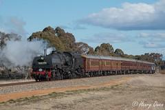 Bungendore Coast (Henry's Railway Gallery) Tags: 6029 ad60class garratt steamlocomotive steamtrain heritagetrain thnsw transportheritagensw passengertrain 6s80 bungendore