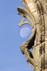 Loop (RagbagPhotography) Tags: standrews fife scotland cathedral harbour moon lunar sky 3rd quarter