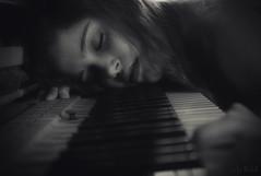 Out of Silence the Sound is Born (RickB500) Tags: rickb rickb500 beauty guenuche guenuchebook pavlina model cute hair czech portrait girl music instruments piano klavier