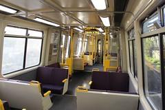 Interior of EMU at Shorncliffe, Brisbane (philip.mallis) Tags: brisbane shorncliffe train traininterior queenslandrail emu electricmultipleunit