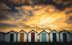 Under Golden Skies (Explore 11/12/2018) (RTA Photography) Tags: beachhuts paignton devon sky golden sunrise outdoors outside nature light d750 nikon rtaphotography doors colours preston coast tamron clouds explore
