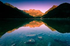 Morning reflection (Tekila63) Tags: pyrenees oredon neouvielle sunrise lake hautespyrenees aragnouet saintlary reflection