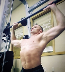 shoulder press (ddman_70) Tags: shirtless pecs abs muscle gym workout shoulderpress