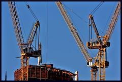Temporary (VegasBnR) Tags: nikon city vegas vegasbnr crane cranes lasvegas building construction skysraper sky top