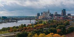 Downtown St. Paul Autumn Skyline, Minnesota (Tony Webster) Tags: daytonsbluff minnesota saintpaul saintpaulskyline stpaul stpaulskyline autumn fall fallcolors foliage panorama panoramic skyline trees