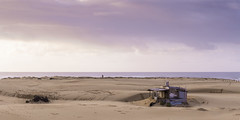 Tin City sunrise (l0relle) Tags: beach sand dunes tin newcastle stockton sunrise