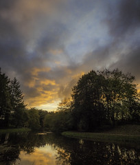 Hardwick Dusk 1 (DXW1978) Tags: durhamlakewater hardwickhall sunset nature landscapepanasonic lumix fz80 fz82 raw dusk clouds trees