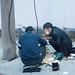 Repairs at dusk
