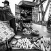 produce vendor, Long Bien Bridge