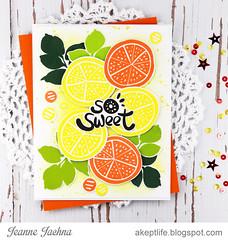 So Sweet (akeptlife) Tags: altenew card cardmaking citrus lemon orange stamping stamp papercrafting die dies sosweet floralfantasy simplefruits fruit