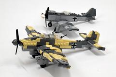 FW-190 & Stuka (Dornbi) Tags: lego aircraft germany fw190 fockewulf stuka ju87 junkers