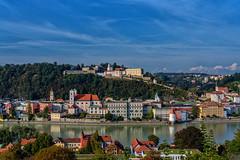 Blick auf Passau und Inn (Jutta Achrainer) Tags: achrainerjutta fe24105mmf4goss passau sonyalpha7riii inn himmel stadt
