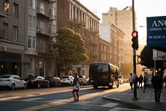 Spotlight (Aymeric Gouin) Tags: usa sanfrancisco street rue california californie light sunset city ville crosswalk people candid fujifilm fuji xt2 aymgo aymericgouin travel voyage unitedstates coucherdesoleil