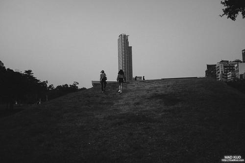 中央公園小山丘