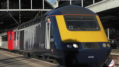 Scotrail HST at Newcastle (Uktransportvideos82) Tags: scotrail hst 43163