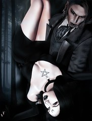 Dreamless (marduklust resident) Tags: sl avatar second life dae fangs marduklust dirty princess salem event goth gothic romance dream vampire dark fantasy magic pentacle black
