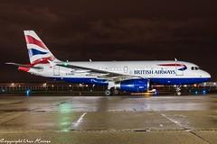 British Airways G-EUOH Night HAJ (U. Heinze) Tags: aircraft airlines airways airplane planespotting plane flugzeug haj hannoverlangenhagenairporthaj eddv nikon