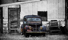 forgotten Ford (David Sebben) Tags: ford sedan automobile car patina abandoned iowa