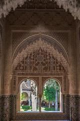Ornate Window and Wall, Alhambra (Peter Cook UK) Tags: stockcategories alhambra moorish spain palace window architecture ornate 2018 moors spanish granada