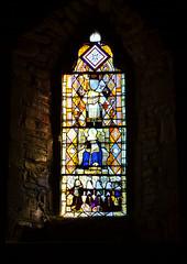 St Michael's Church, Munslow, Shropshire - stained glass window (Baz Richardson (now away until 26 Oct)) Tags: shropshire munslow stmichaelschurchmunslow wenlockedge gradeilistedbuildings stainedglasswindows