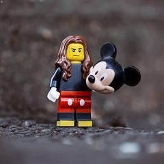 Dude hates his job (Jezbags) Tags: job hate mickey mouse costume disney sweaty hot canon canon80d 80d macro macrophotography macrodreams macrolego lego legos toy toys